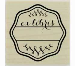 "Custom Ex Libris Bookplate Rubber Stamp - 1.5"" X 1.5"" - Stamptopia"