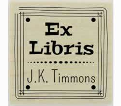 "Custom Ex Libris Bookplate Stamp - 1.5"" X 1.5"" - Stamptopia"