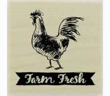 "Custom Farm Fresh Banner Design Stamp - 1"" X 1"" - Stamptopia"