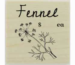 "Custom Fennel Herb Stamp - 1.5"" X 1.5"" - Stamptopia"