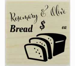 "Custom Flavored Bread Stamp - 1.5"" X 1.5"" - Stamptopia"