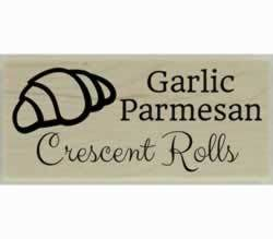 "Custom Flavored Crescent Roll Design Stamp - 2"" X 1"" - Stamptopia"