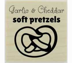 "Custom Flavored Soft Pretzel Stamp - 1.5"" X 1.5"" - Stamptopia"