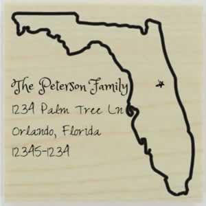 "Custom Florida Stamp Design 1- 1.5"" X 1.5"" - Stamptopia"