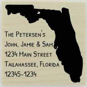 "Custom Florida Stamp Design 2- 1.5"" X 1.5"" - Stamptopia"