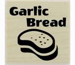 "Custom Garlic Bread Stamp - 1.5"" X 1.5"" - Stamptopia"