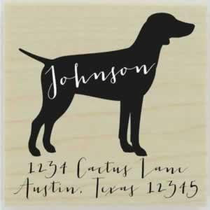"Custom German Pointer Stamp Design 1 - 1.5"" X 1.5"" - Stamptopia"