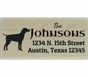 "Custom German Pointer Stamp Design 3 - 2.5"" X 1"" - Stamptopia"