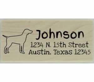 "Custom German Pointer Stamp Design 4 - 2.5"" X 1"" - Stamptopia"