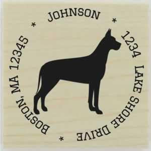 "Custom Great Dane Stamp Design 1 - 1.5"" X 1.5"" - Stamptopia"