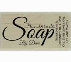 "Custom Handmade Soap Rubber Stamp - 3"" X 1.5"" - Stamptopia"