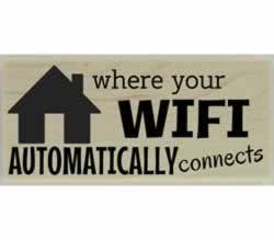 "Custom Home Wifi Quote Rubber Stamp - 2.5"" X 1"" - Stamptopia"