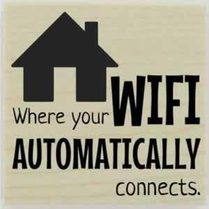 "Custom Home Wifi Quote Stamp - 1.5"" X 1.5"" - Stamptopia"