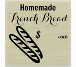 "Custom Homemade French Bread Stamp - 1.5"" X 1.5"" - Stamptopia"