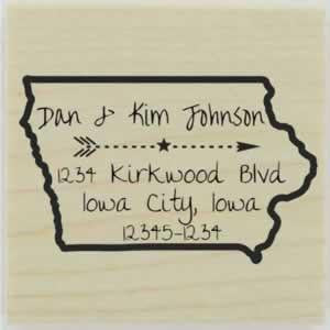 "Custom Iowa Stamp Design 1 - 1.5"" X 1.5"" - Stamptopia"