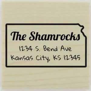 "Custom Kansas Stamp Design 1 - 1.5"" X 1.5"" - Stamptopia"