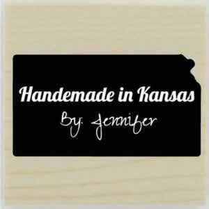 "Custom Kansas Stamp Design 2 - 1.5"" X 1.5"" - Stamptopia"