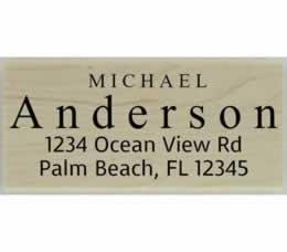 "Custom Large Last Name Address Stamp - 2.5"" X 1.25"" - Stamptopia"
