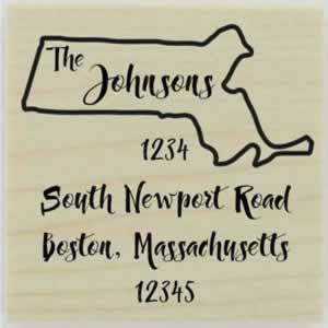 "Custom Massachusetts Stamp Design 1 - 1.5"" X 1.5"" - Stamptopia"