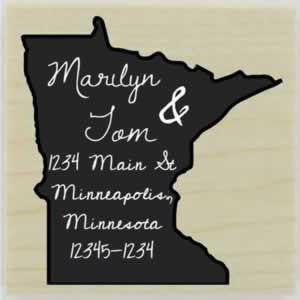 "Custom Minnesota Stamp Design 2 - 1.5"" X 1.5"" - Stamptopia"