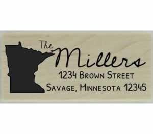 "Custom Minnesota Stamp Design 4 - 2.5"" X 1"" - Stamptopia"