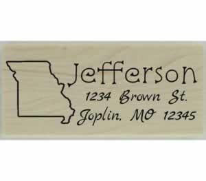 "Custom Missouri Stamp Design 3 - 2.5"" X 1"" - Stamptopia"