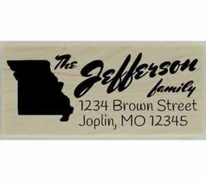 "Custom Missouri Stamp Design 4 - 2.5"" X 1"" - Stamptopia"