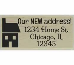 "Custom New Address Return Address Stamp - 2.5"" X 1"" - Stamptopia"
