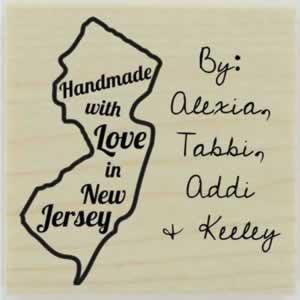 "Custom New Jersey Stamp Design 1 - 1.5"" X 1.5"" - Stamptopia"