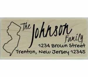 "Custom New Jersey Stamp Design 3 - 2.5"" X 1"" - Stamptopia"