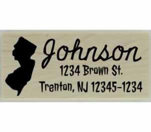 "Custom New Jersey Stamp Design 4 - 2.5"" X 1"" - Stamptopia"