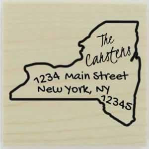 "Custom New York Stamp Design 1 - 1.5"" X 1.5"" - Stamptopia"