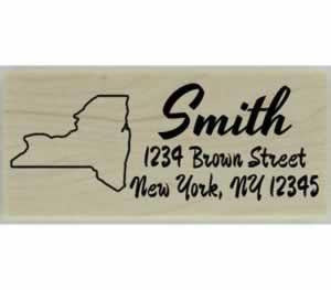 "Custom New York Stamp Design 3 - 2.5"" X 1"" - Stamptopia"