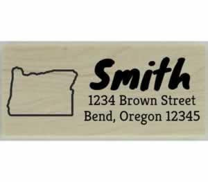 "Custom Oregon Stamp Design 3 - 2.5"" X 1"" - Stamptopia"