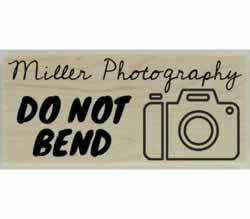 "Custom Photography Do Not Bend Stamp - 2.5"" X 1"" - Stamptopia"