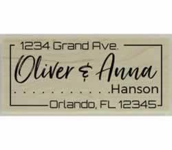"Custom Return Address Border Stamp - 2.5"" X 1.25"" - Stamptopia"