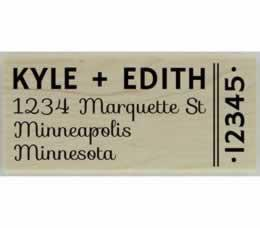 "Custom Side Zip Code Address Stamp - 2.5"" X 1.25"" - Stamptopia"
