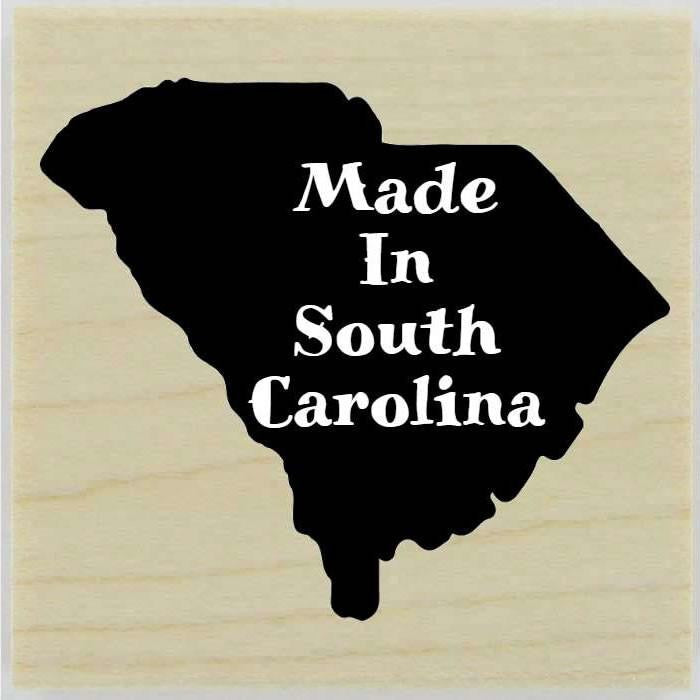 "Custom South Carolina Stamp Design 2 - 1.5"" X 1.5"" - Stamptopia"
