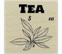 "Custom Tea Herb Stamp - 1.5"" X 1.5"" - Stamptopia"