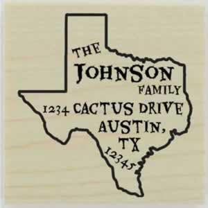"Custom Texas Stamp Design 1 - 1.5"" X 1.5"" - Stamptopia"