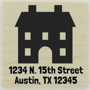 "Custom Two Story Home Address Stamp - 1.5"" X 1.5"" - Stamptopia"