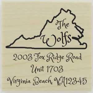 "Custom Virginia Stamp Design 1 - 1.5"" X 1.5"" - Stamptopia"