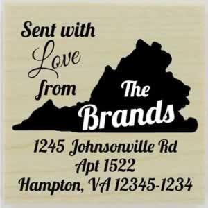 "Custom Virginia Stamp Design 2 - 1.5"" X 1.5"" - Stamptopia"