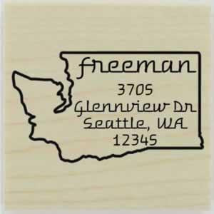 "Custom Washington Stamp Design 1 - 1.5"" X 1.5"" - Stamptopia"
