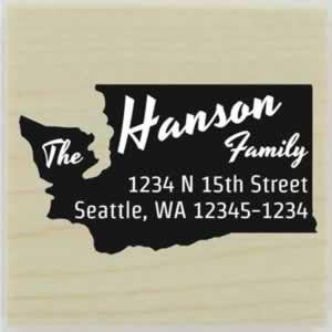 "Custom Washington Stamp Design 2 - 1.5"" X 1.5"" - Stamptopia"