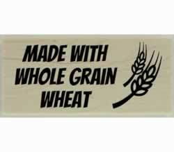"Custom Whole Grain Bread Design Stamp - 2"" X 1"" - Stamptopia"