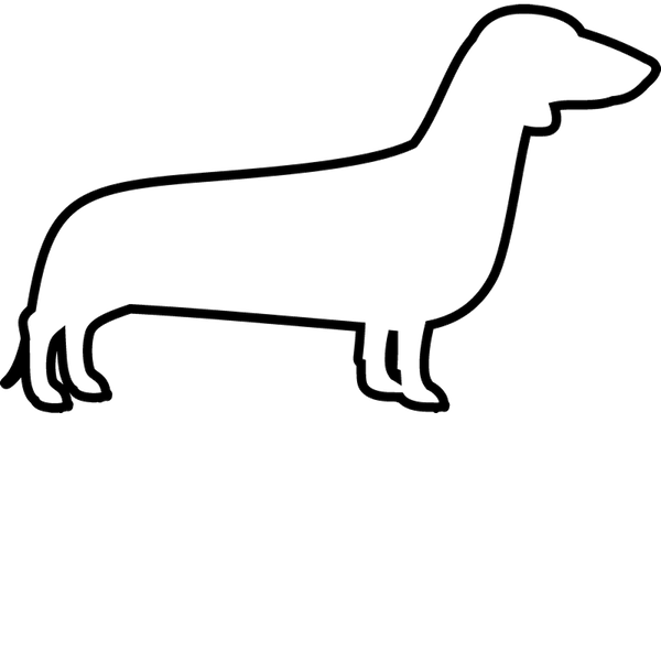 Dachshund Rubber Stamp (Outline) - Stamptopia
