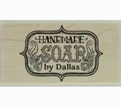 "Dallas Handmade Soap Custom Stamp - 1.5"" X 0.75"" - Stamptopia"