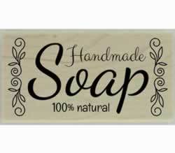 "Decorative 100% Natural Handmade Soap Stamp - 3"" X 1.5"" - Stamptopia"