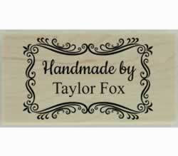 "Decorative Border Handmade Custom Stamp - 1.5"" X 0.75"" - Stamptopia"